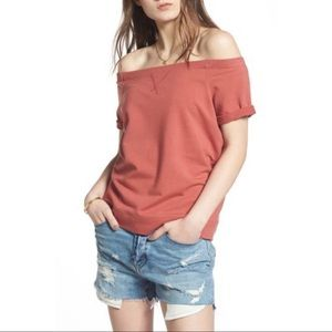 Treasure & Bond Off the Shoulder Sweatshirt NWT